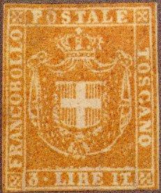 3 lire toscana farouk francobollo raro